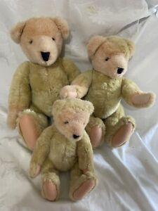 "Vtg Vanderbear Family Alice North American Bear Co. Inc lot 3 13"" 16"" 20"" NABCO"