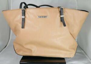 Nine West Women's Purse Shoulder Bag Biege Tan Leather Stylish Fashion EXCELLENT