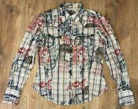 Desigual ladies womens multicolor pattern shirt blouse size 42