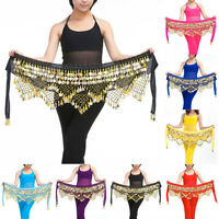 Professional 320 Coins Belly Dance Dancing Hip Scarf Costume Belt Popular EF