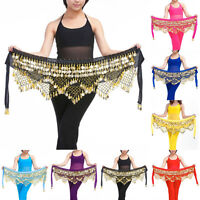 Professional 320 Silver Coins Belly Dance Dancing Hip Scarf Costume Belt TB