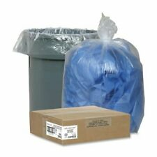 """Nature Saver Clear Recycled Trash Can Liner - 60 Gal - 38"""" X 58"""" - 1.50 Mil [38"""