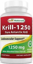 Best Naturals Pure Antarctic Krill Oil 1250 mg (Triple Strength) 60 Softgels