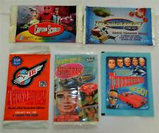 Thunderbirds Captain Scarlet & Stingray Cards - 5 Different Sealed Packs