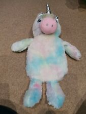Primark Unicorn Hot Water Bottle Holder And Bottle Rainbow