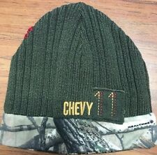 REVERSIBLE HUNTER GREEN/CAMO CHEVY BEANIE FREE SHIPPING