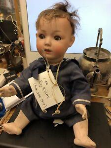 Antique German Doll SH (pb) Well Loved Named Roy Hinson Circa 1919