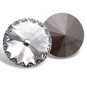 2 SWAROVSKI® Kristalle 1122 Rivoli Chaton, 14 mm, Crystal (Strass Steine)