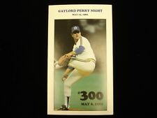 May 1982 Gaylord Perry Night Commemorative Program - EX-NM