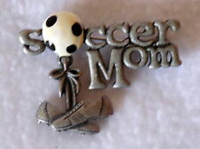 Pin charm soccer shoes Pewter Danecraft Soccer Mom Brooch