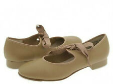 Dance Class T200 Toddler Size 9M (Fits Toddler Size 8.5) Tan Tie Tap Shoe