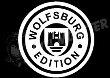 Wolfsburg Edition Sticker, VW Volkswagen Polo Caddy Golf R GTI Passat Camper T2