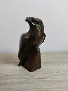 """Carved Wooden Eagle Ironwood or Walnut 5"""" 13cm Tall"""