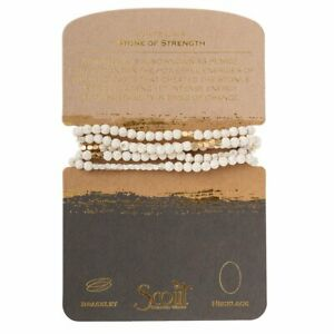 Scout WHITE LAVA Stone of Strength BRACELET or NECKLACE beads Jewelry Wrap