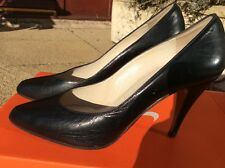 Russell & Bromley Size 3.5 Vintage Black Leather Stilettoes