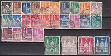 Germany Scott 634-61 Used (few short perfs) - Catalog Value $54.35