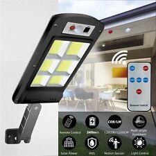 Solar Street Wall Light Motion Sensor LED 120 COB Lamp Remote Control Waterproof