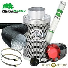 More details for rhino hobby carbon filter kit air odour extraction fan combi ducting hydroponics