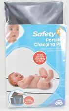 Black Changing Pad Baby Infant Portable Padded Washable Mr Mom Nip New