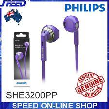 PHILIPS SHE3200PP Headphones Earphones - Rich Bass - PURPLE Color - GENUINE