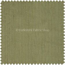 Thin Stripe Line Soft Velvet Cord Fabric Upholstery Sofa Curtains Material Green