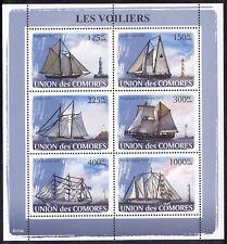 Comoro Islands - 2009 s/s of 6 Sailing Ships #1023 cv $ 12.50 Lot # 31
