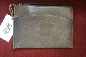NWT Hobo International Noa Leather Wristlet Clutch, Embossed Shadow, MSRP $98