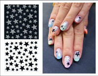 Glitter Star Adhesive Nail Stickers Art Decals Tattoos Free shipping