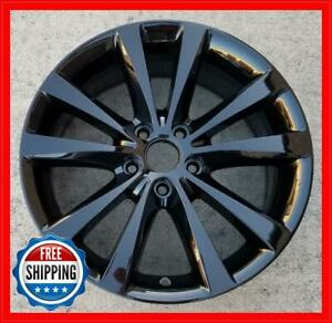 "DODGE AVENGER BLACKTOP 2012-2014 Factory OEM Wheel 18"" Rim BLACK 2432 2504 #R"