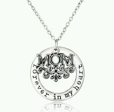 My Heart Necklace Pendant silver (715) Mothers Day mum Mom Necklaces Forever in