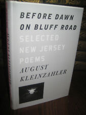 1st Edition BEFORE DAWN ON BLUFF ROAD August Kleinzahler NEW JERSEY POEMS Poetry