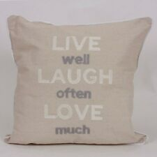 Harry Corry Linen Live Motto Cushion 45cm X45cm Square Cushion With Inner Pad