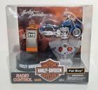 "Vintage 2003 Harley Davidson ""Fat Boy"" Blue R/C Motorcycle 3201 (New)"