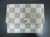 Auth Louis Vuitton Damier Azur Portefeiulle Anais N63241 Wallet Box Great 87726
