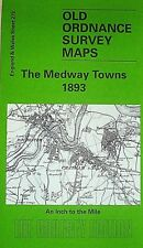 Old Ordnance Survey Map Medway Rochester Chatham Sittingbourne 1893 S272  New