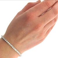 CZ by Kenneth B Womens Silver Round Tennis Bracelet Jewelry O/S BHFO 1361
