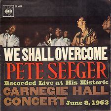 """PETE SEEGER - We Shall Overcome (1963 VINYL EP 7"""" HOLLAND)"""
