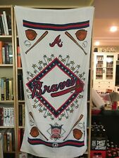 Mlb 1994 Atlanta Braves Bath Beach Towel Collectible Banner