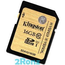 Kingston 16GB 16G 90MB/s SDHC SD Flash Card Memory Camera DSLR C10 Class 10 600x