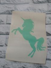 Unicorn decal Vinyl Car Decal Tumbler cup tablet decal. 3.5 h Teal, Pick color.