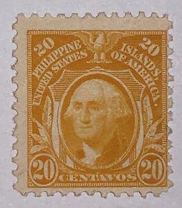 Travelstamps: 1917 US Philippines stamp scott #297 20 cent Washington Mint OG H