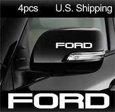 4 FORD Stickers Decals Wing Mirror Door handle Wheels Racing Mustang F150 WHITE