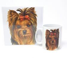 2 unidades Yorkie Yorkshire Terrier Perro Taza SALUDO CUMPLEAÑOS