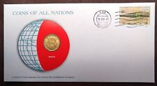 1982 Postmarked Coins of All Nations PNC with Mint state coin,  Macao