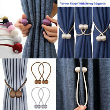 2Pcs Magnetic Ball Curtain Buckle Holder Tieback Tie Backs Rope Clips Home Decor