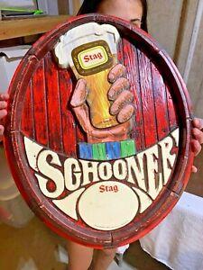 Vintage Stag Beer Vacuform Sign Schooner Carling Belleville, IL