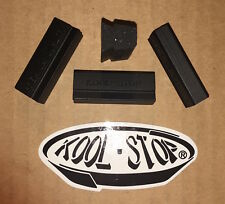 4 NEW KOOLSTOP Brake Shoe Pads f Vintage Campagnolo Nuovo Super Record etc BLACK