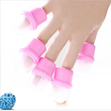 HOT 10Pcs Wearable Nail Acrylic Soaker Kits Polish Remover Gel Removal Cap Tips