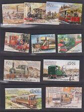 Trains, Railroads Decimal Manx Regional Stamp Issues