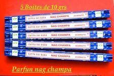 5 boites d'encens nag champa